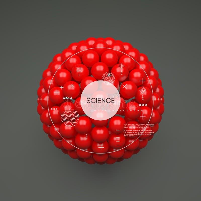 sphere mall f?r vektor 3d abstrakt illustration Id?begrepp f?r vetenskap, teknologi, reng?ringsdukdesign och n?tverk vektor illustrationer