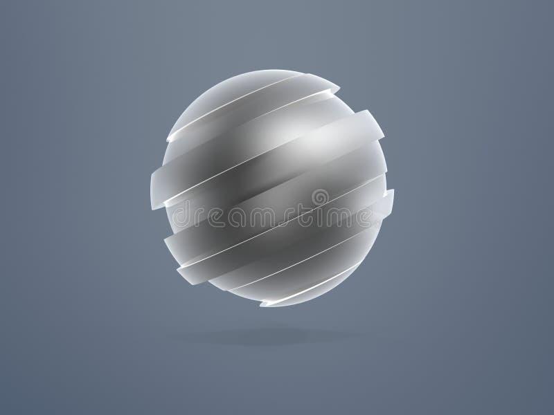Download Sphere model sliced stock illustration. Illustration of division - 17524995