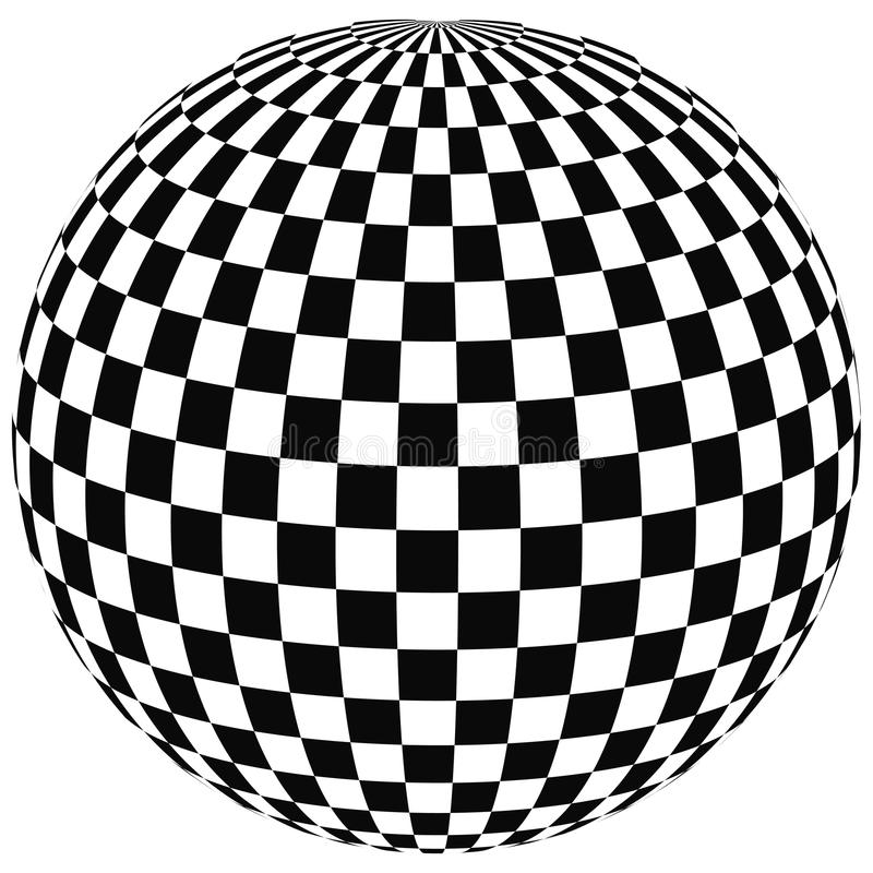 Sphere with squares royalty free illustration