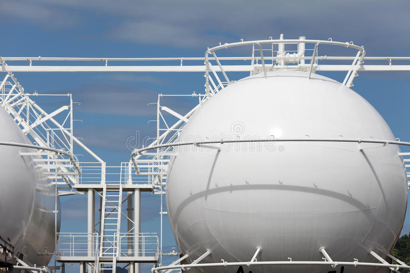 Download Sphere storage tank stock photo. Image of global, generation - 26490354