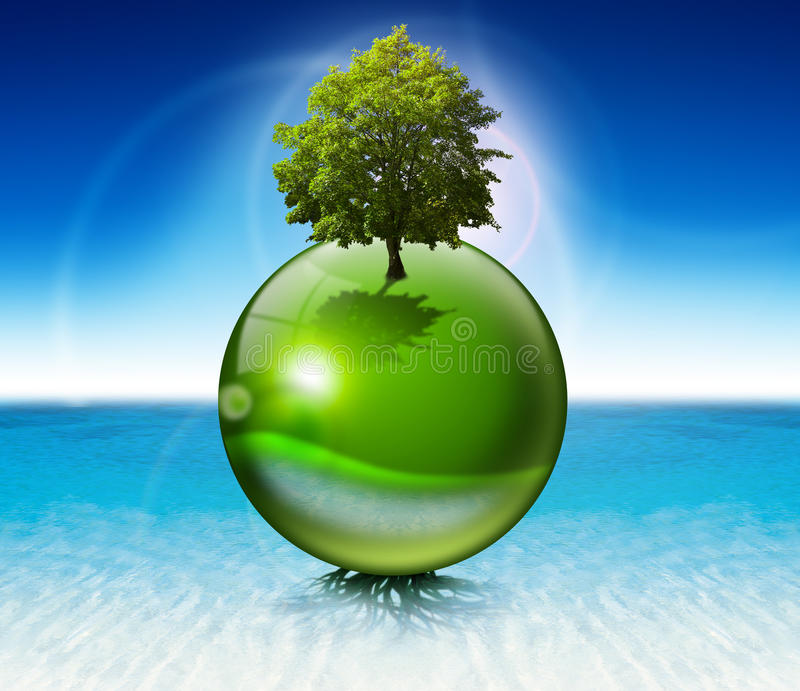 Download Sphere Tree -  Ecology Concept Stock Illustration - Image: 21890413