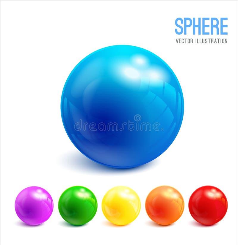 Sphere vector object. stock illustration