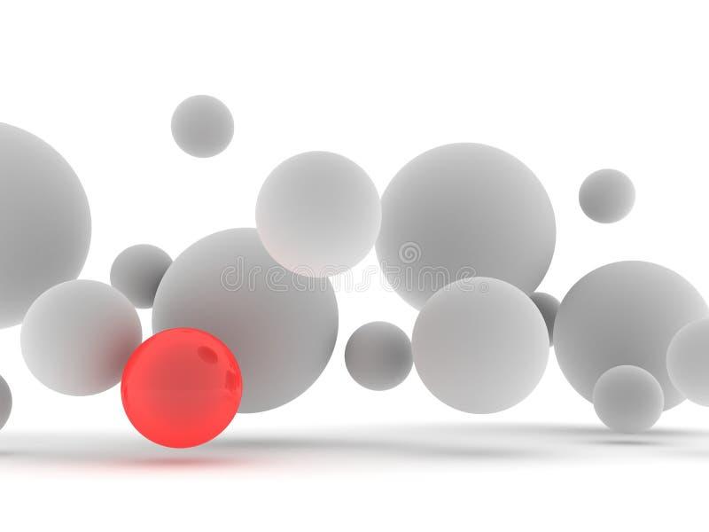 spherers 3d ilustración del vector