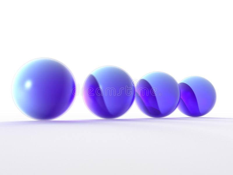 spheres 3d stock illustrationer