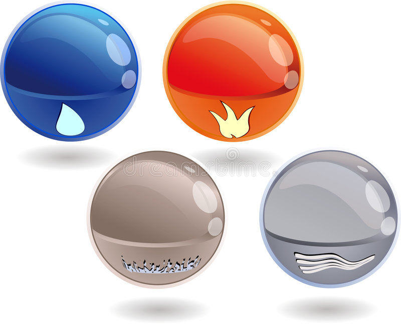 spheres 3d royaltyfri illustrationer