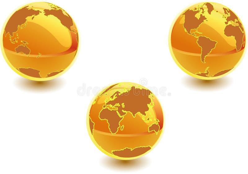 spheres 3d stock illustrationer