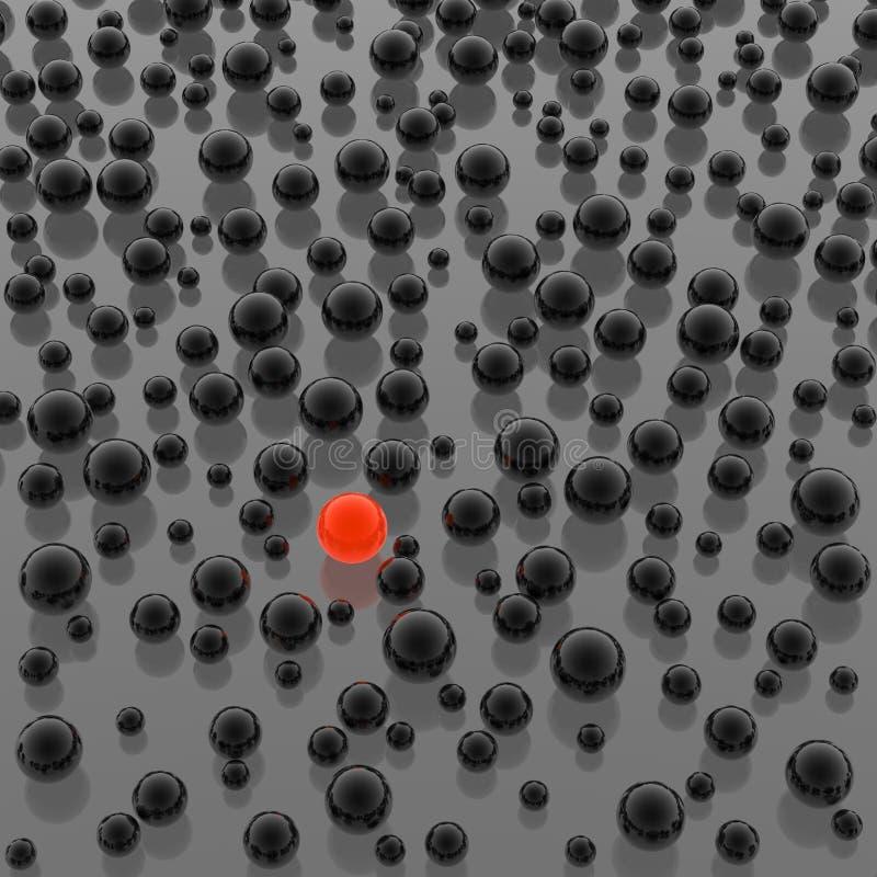 Spheres background vector illustration