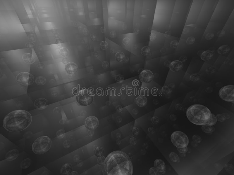 Spheres bw vector illustration