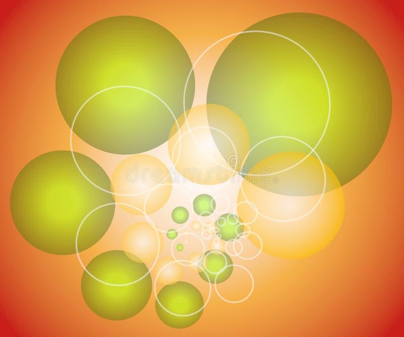 Spheres Circles Background 2 royalty free illustration
