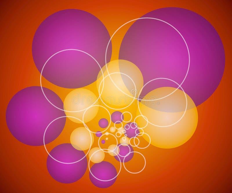 Spheres Circles Background 3 royalty free illustration