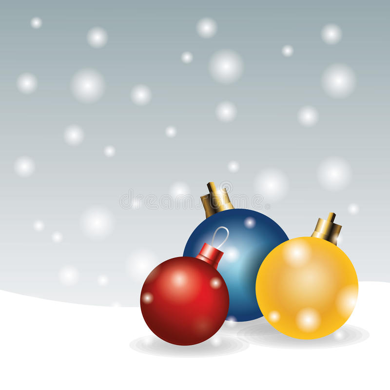 Spheres decoration merry christmas icon. Vector graphic. Spheres decoration merry christmas holiday celebration icon. Colorfull illustration. Vector graphic vector illustration