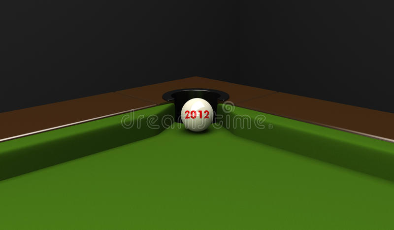 Spheres with figures 2012. stock illustration