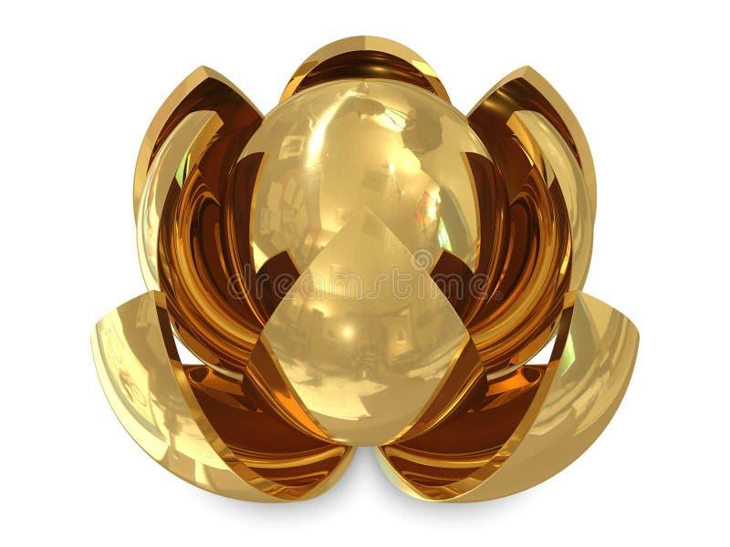Download Spheres golden stock illustration. Illustration of iron - 17169112