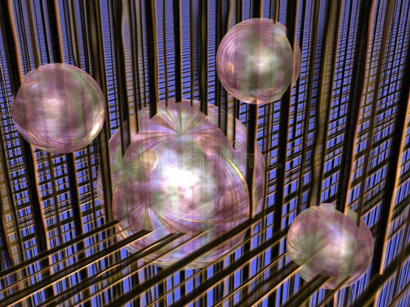 Spheres in matrix. royalty free illustration