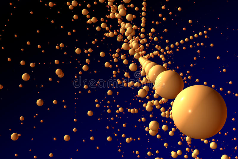 Download Spheres in space stock illustration. Illustration of fantasy - 9698465