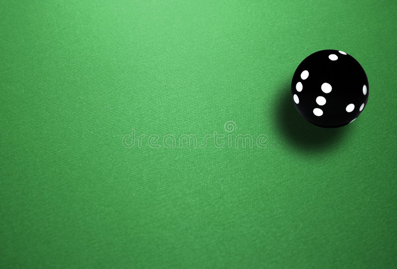 Spheric dice stock image