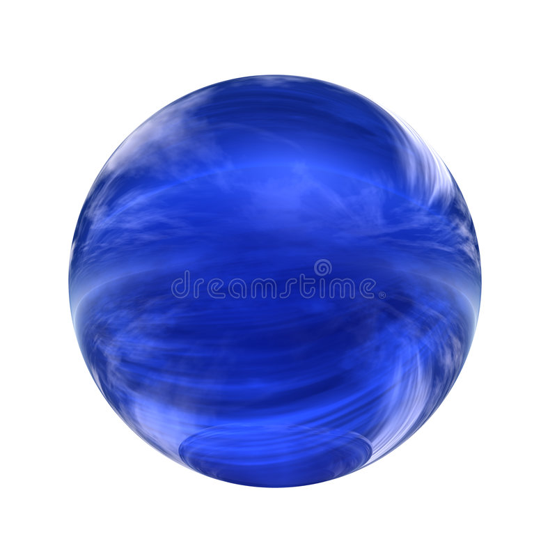 Spherical 3D button. Extremely high resolution 3D sphere rendered at maximum quality stock illustration