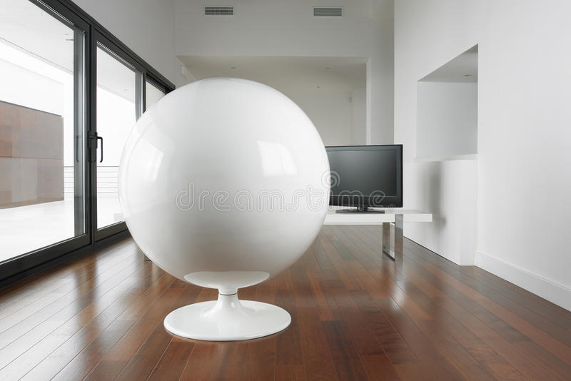 Download Spherical Armchair And Living Room. Royalty Free Stock Image - Image: 30484076