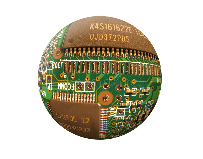 Download Spherical Circuit 2 stock illustration. Image of part, circuit - 90866