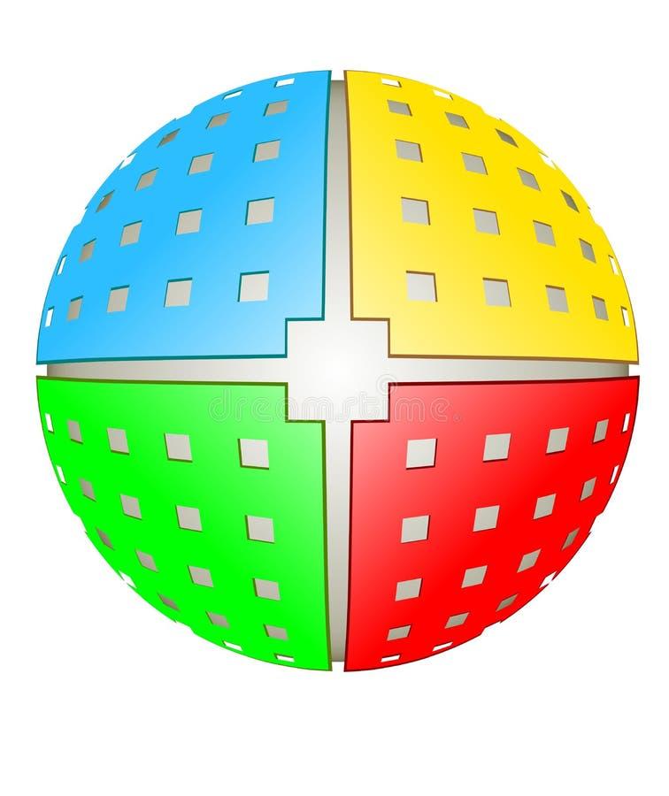 Spherical design element vector illustration