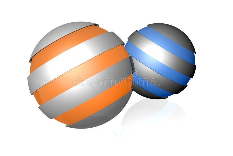 Spherical design elements vector illustration