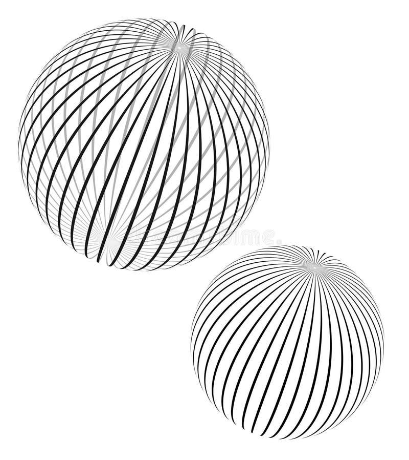 Spherical design elements stock illustration