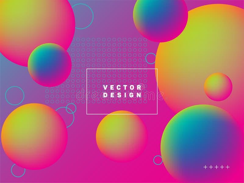 Spherical gradient motion elements modern poster layout. vector illustration