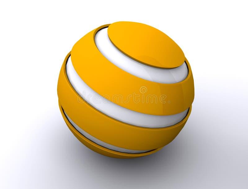 Spherical icon royalty free illustration