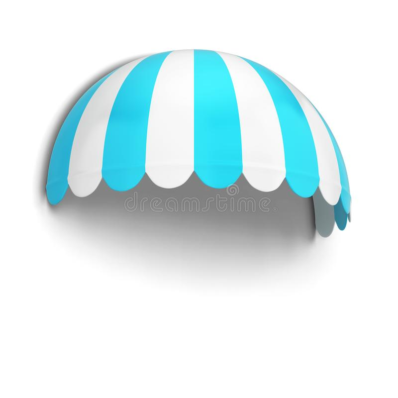Spherical store awning stock illustration