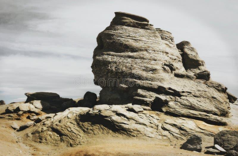Sphinx των βουνών Bucegi στοκ εικόνες