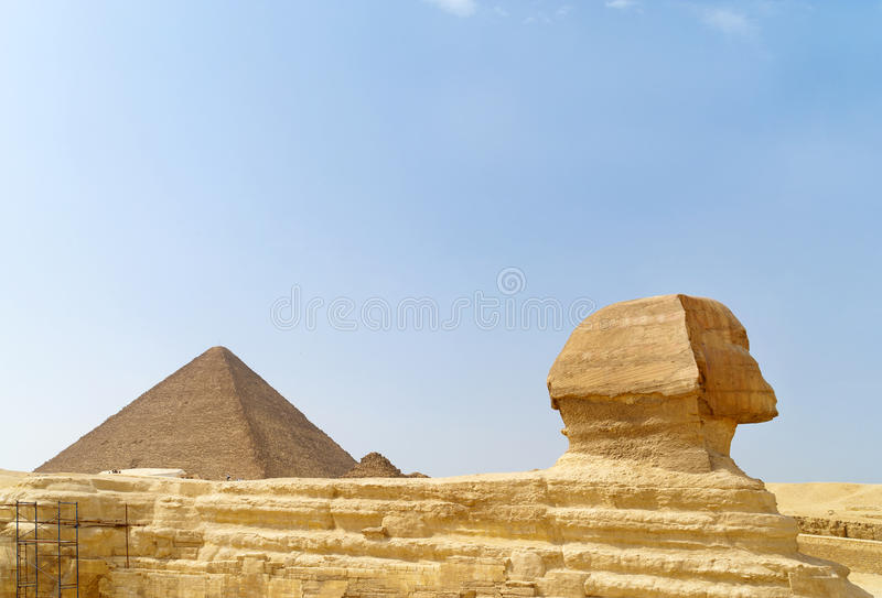 Sphinx. GREAT Sphinx at Giza in gorode egipte stock image