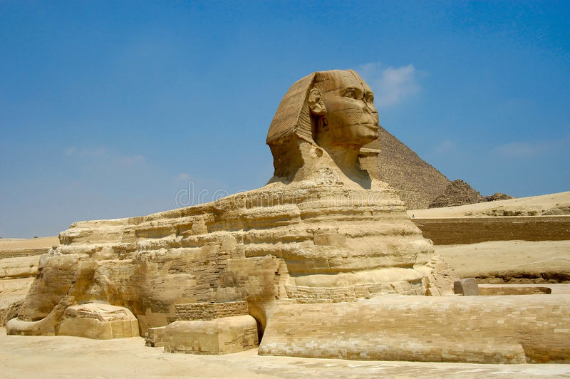 Sphinx. Sphink at Giza, Cairo, Egypt stock image