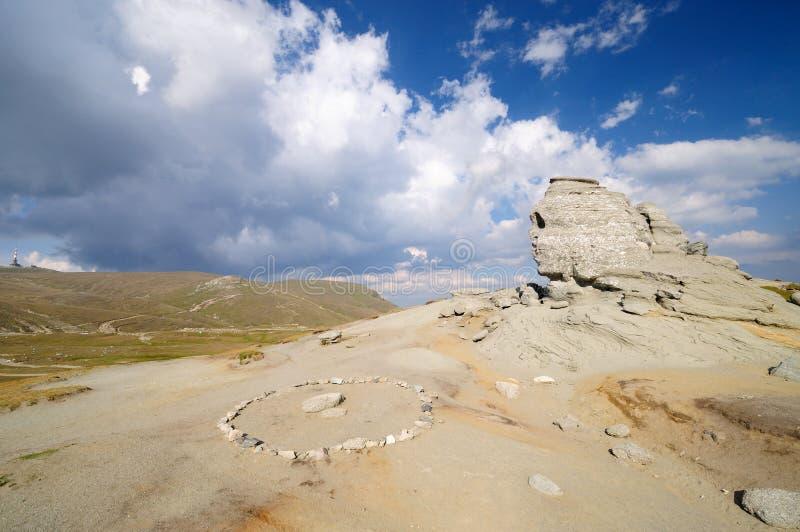 The Sphinx. The romanian Sphinx in Bucegi mountains stock photos
