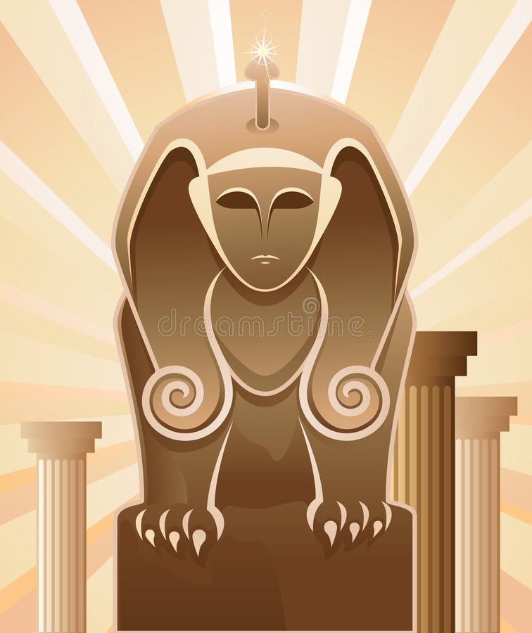 sphinx illustration stock