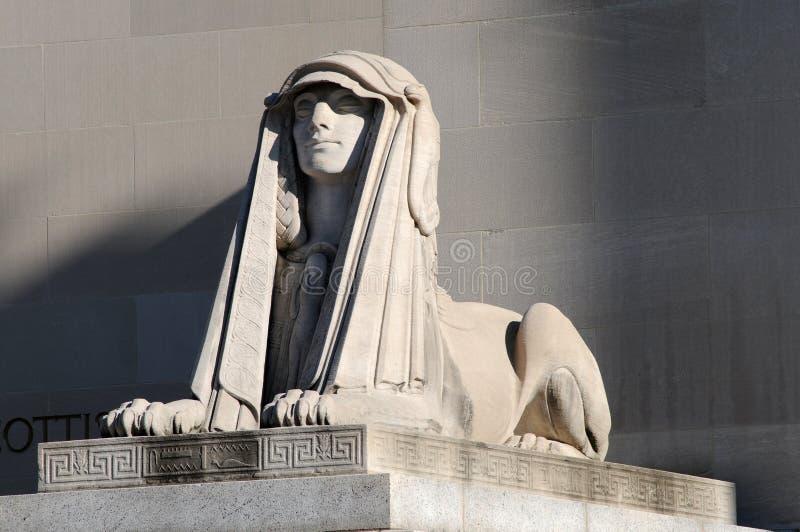 Sphinx. Scottish rite of freemasonry (supreme court) building in Washington DC stock images