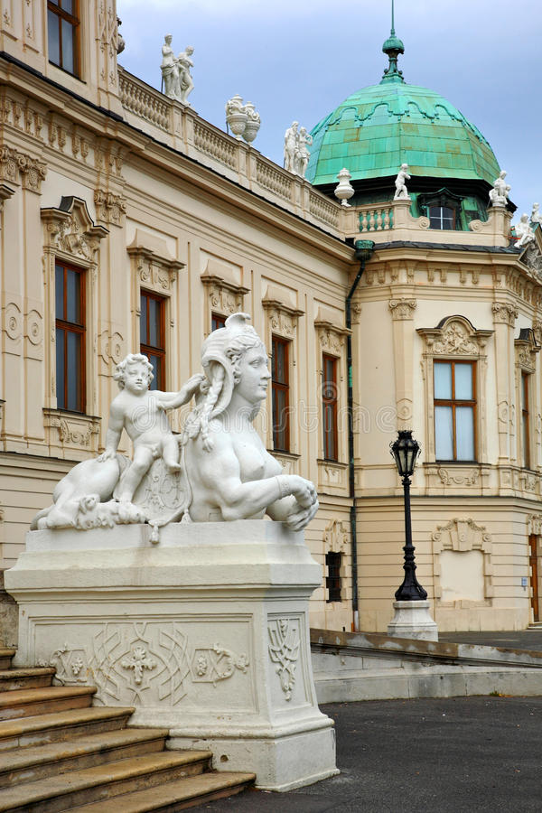 Sphinx.Belvedere,Vienna royalty free stock photography