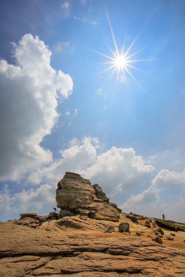 Sphinx of Caraiman. It is located in Romania stock photos