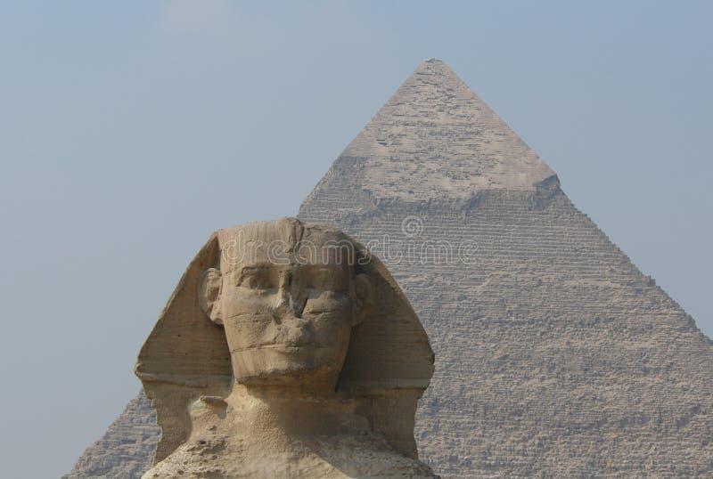 Sphinx And Chephren S Pyramid Royalty Free Stock Image