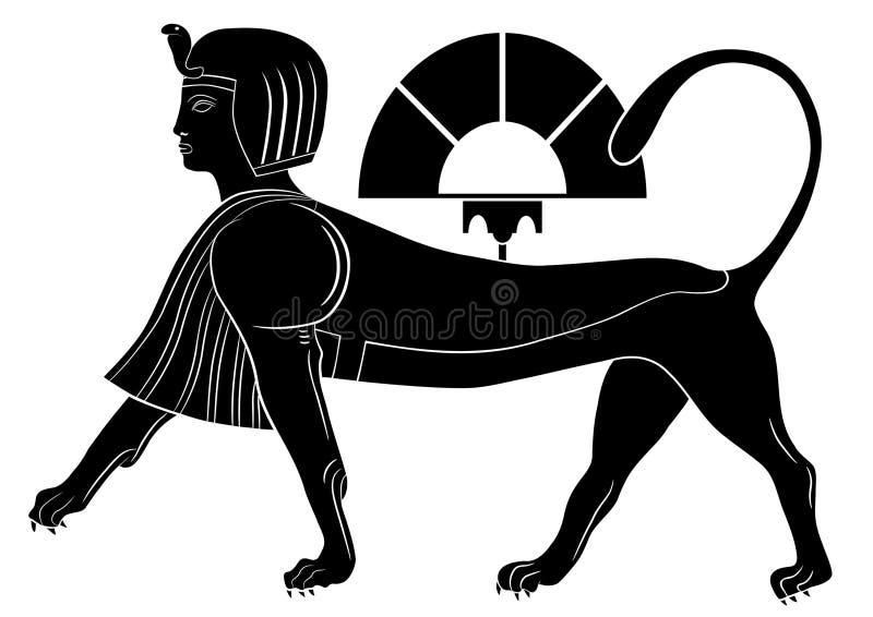 Sphinx - creature mythical illustrazione di stock