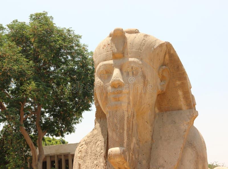 Sphinx d'albâtre de Memphis. photographie stock