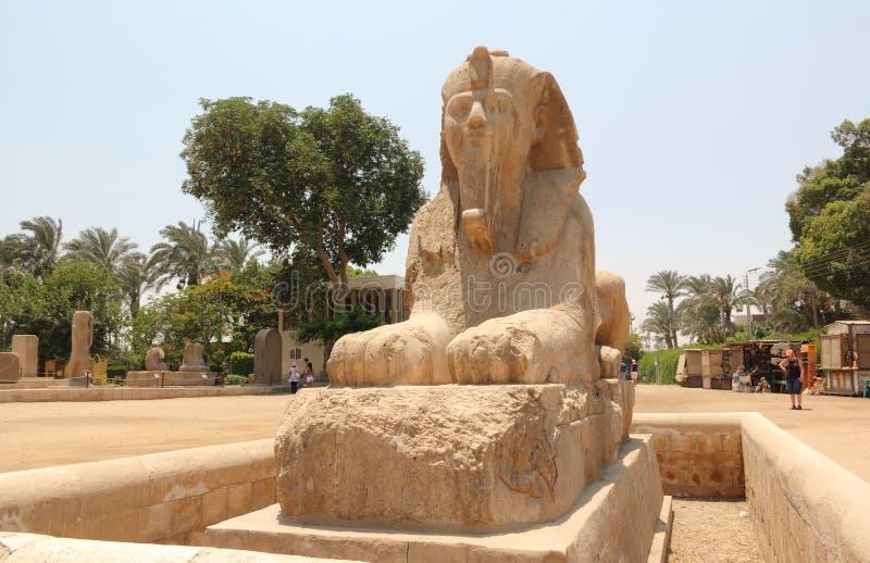 Sphinx d'albâtre de Memphis. photos libres de droits