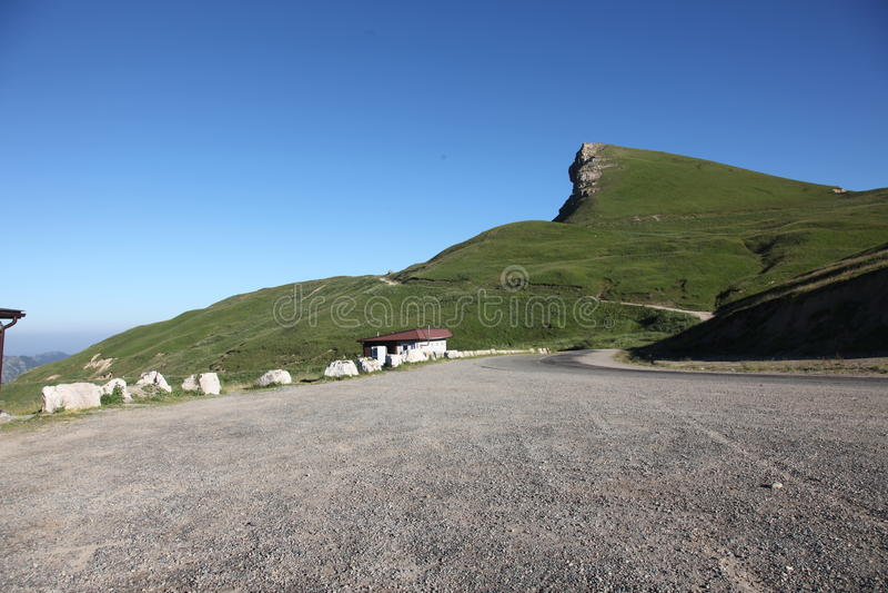 Sphinx de montagne, la gomme-Bashi de passage de montagne image libre de droits