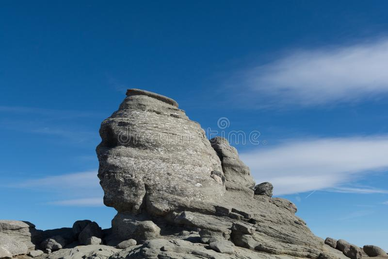 Sphinx des montagnes de Bucegi image stock