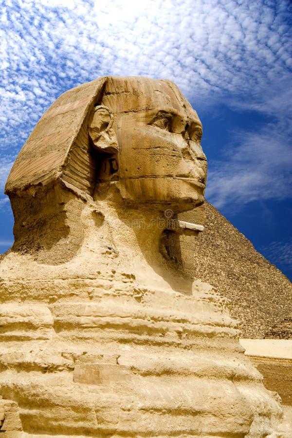 Sphinx e piramide egiziani immagine stock libera da diritti