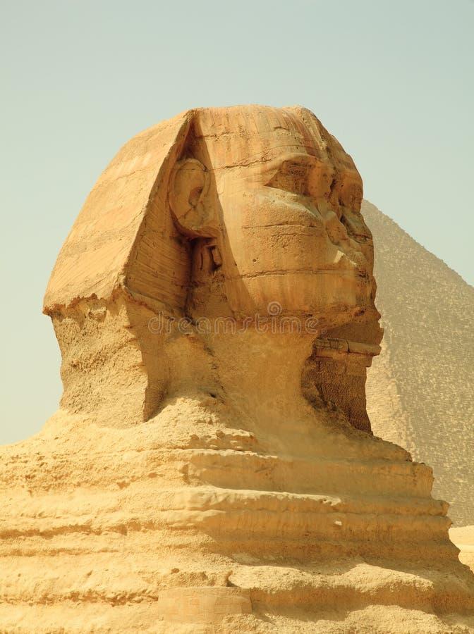 Sphinx e piramidi di Giza nell'Egitto immagine stock