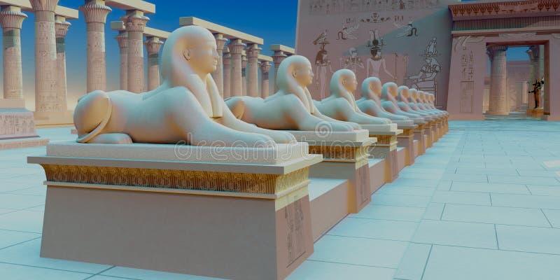 Sphinx egípcio fotografia de stock