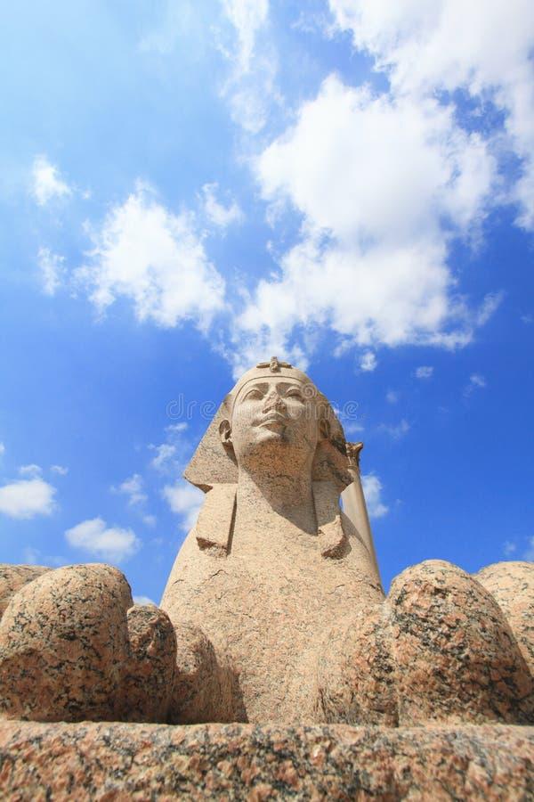 sphinx för alexandria pelarpompey s arkivbild