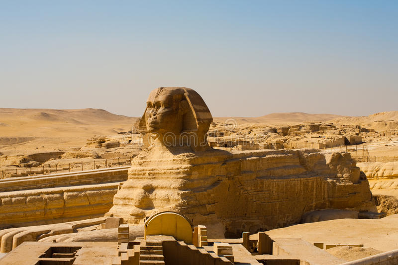 Sphinx Full Body Profile Empty royalty free stock photos