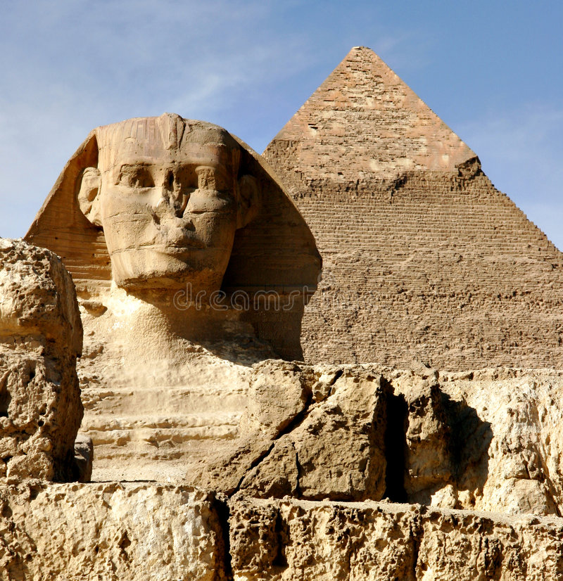 Sphinx in Giza lizenzfreies stockbild
