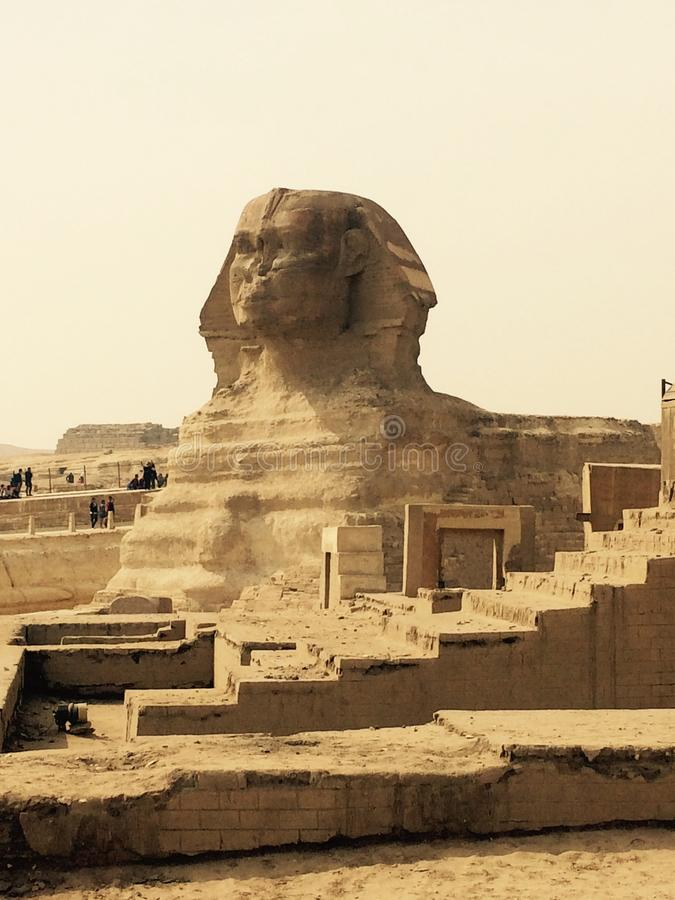 Sphinx and Giza pyramids, Egypt stock photos